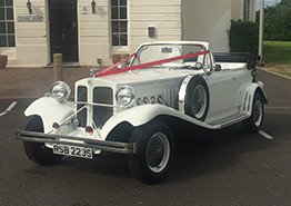 White Beauford 2 Wedding Car Hire