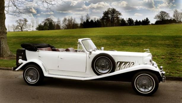 White Beauford Wedding Car Hire